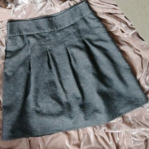 Ann Taylor wool blend pleated skirt metallic